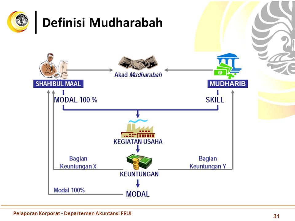 Definisi Mudharabah Pelaporan Korporat - Departemen Akuntansi FEUI