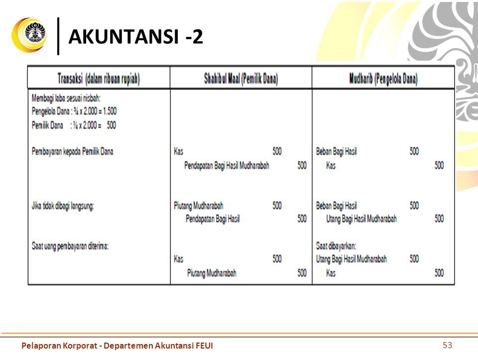 AKUNTANSI -2 Pelaporan Korporat - Departemen Akuntansi FEUI
