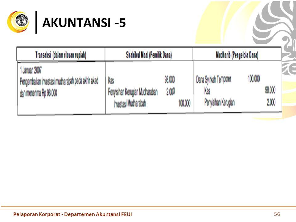 AKUNTANSI -5 Pelaporan Korporat - Departemen Akuntansi FEUI