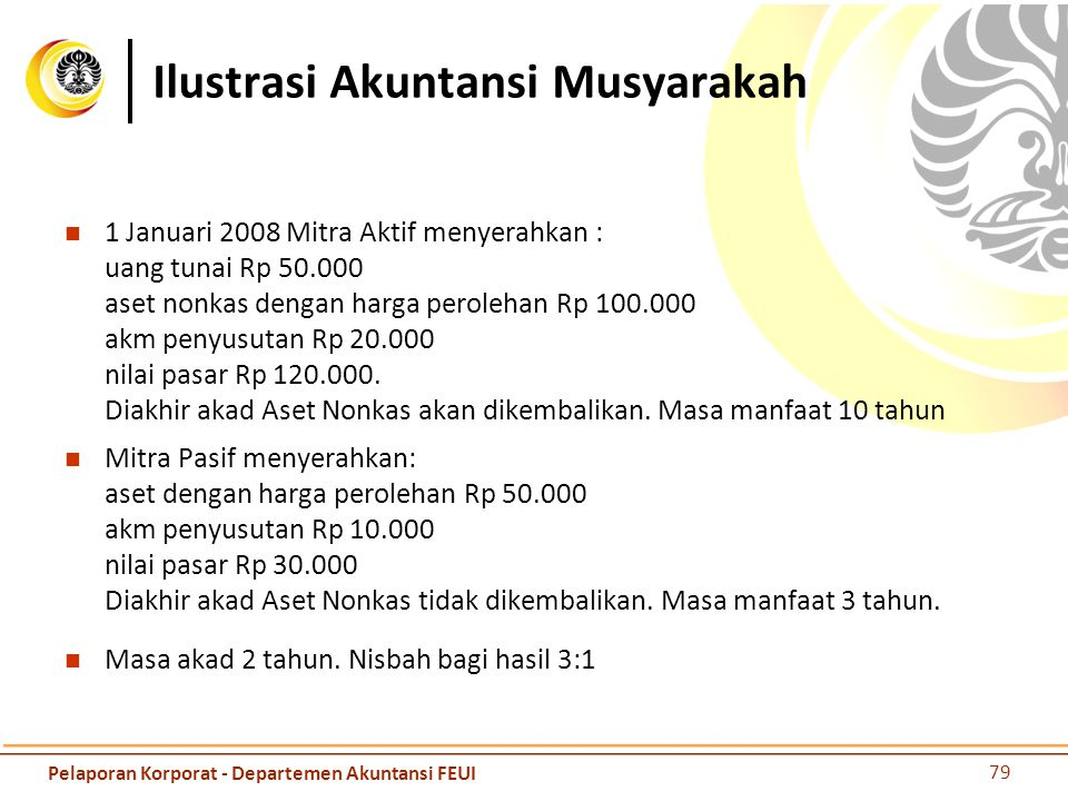 Ilustrasi Akuntansi Musyarakah