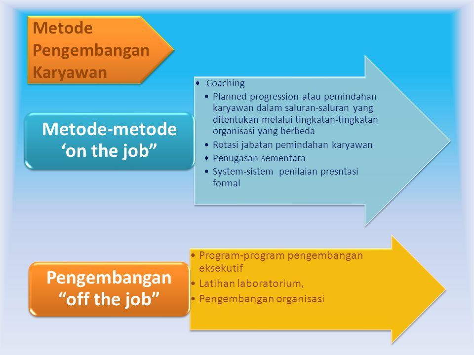 Metode-metode 'on the job Pengembangan off the job