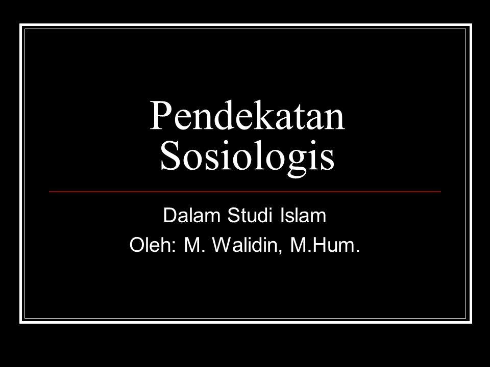 Pendekatan Sosiologis