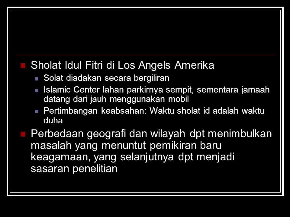 Sholat Idul Fitri di Los Angels Amerika