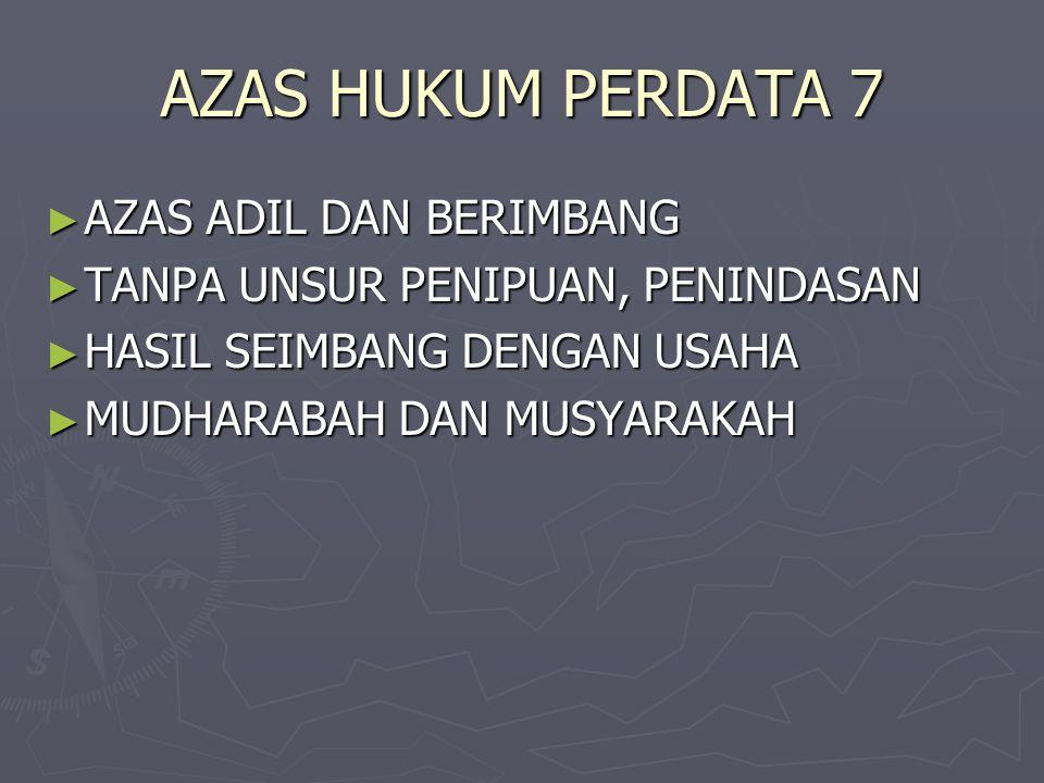 AZAS HUKUM PERDATA 7 AZAS ADIL DAN BERIMBANG