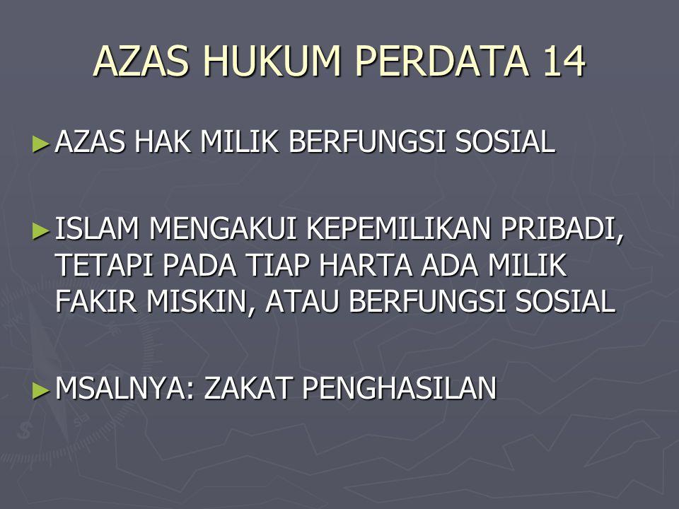 AZAS HUKUM PERDATA 14 AZAS HAK MILIK BERFUNGSI SOSIAL