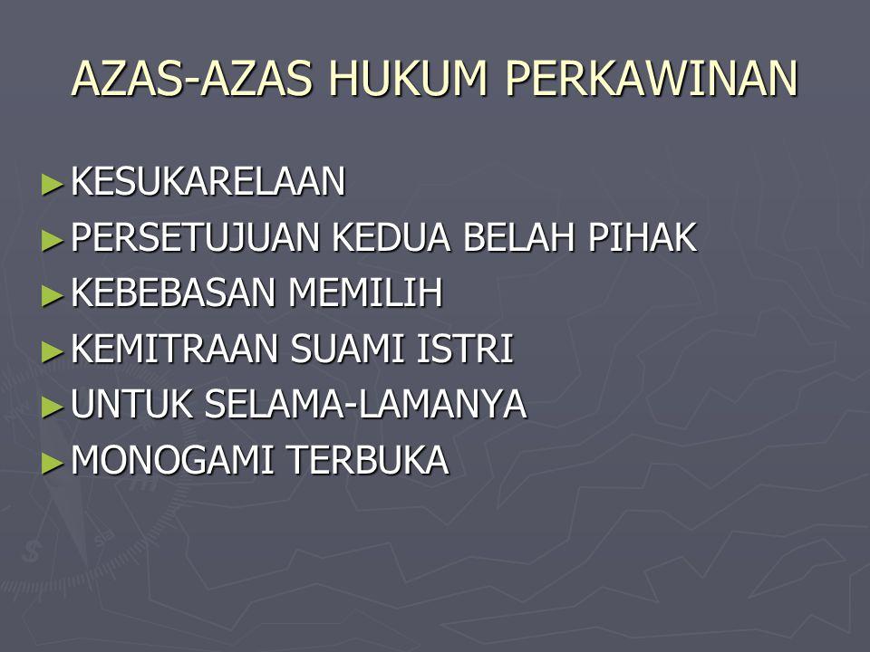 AZAS-AZAS HUKUM PERKAWINAN