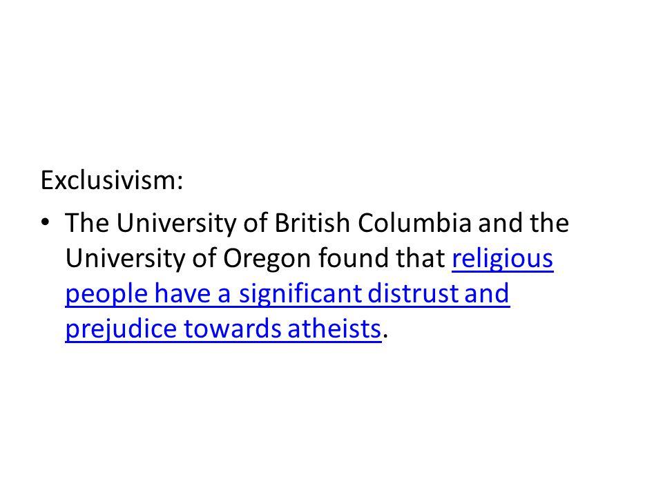Exclusivism: