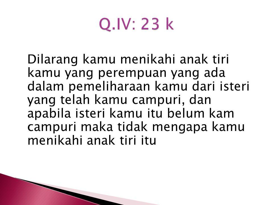 Q.IV: 23 k