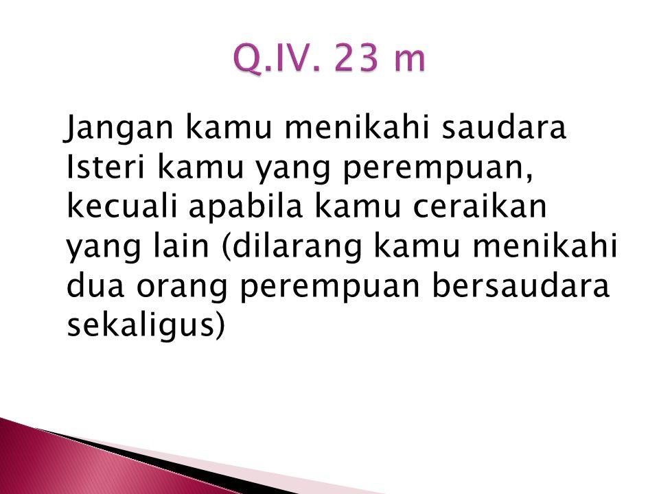 Q.IV. 23 m
