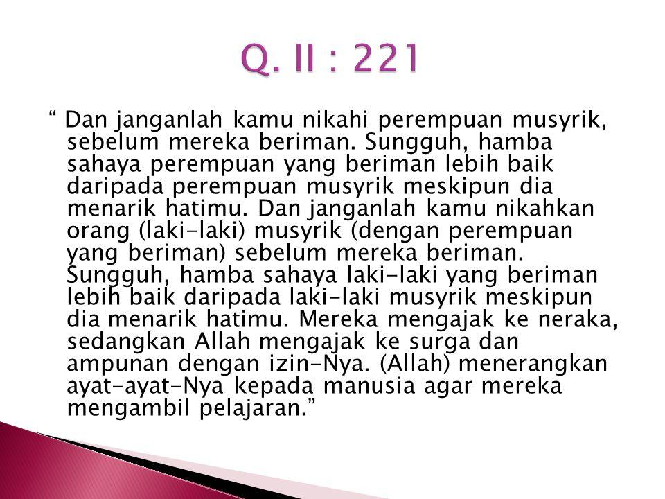 Q. II : 221