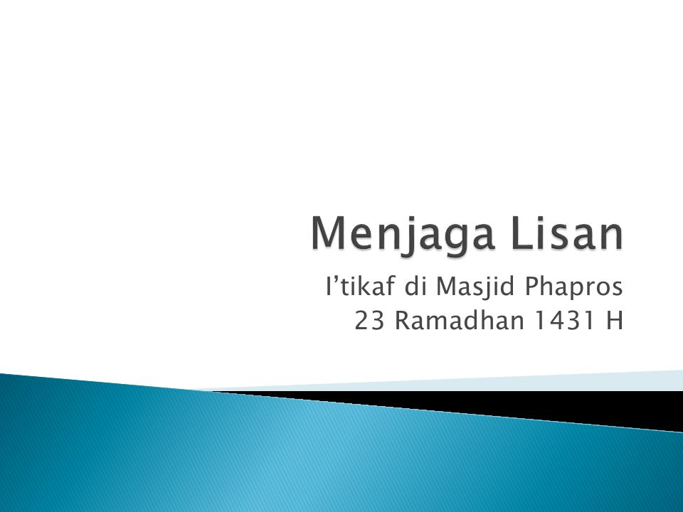 I'tikaf di Masjid Phapros 23 Ramadhan 1431 H