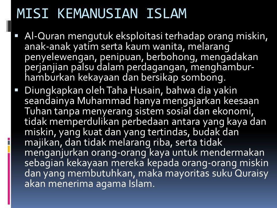 MISI KEMANUSIAN ISLAM