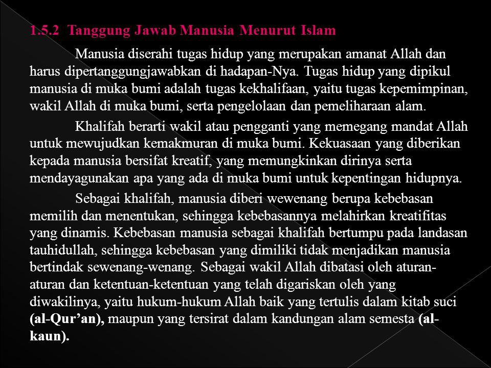 1.5.2 Tanggung Jawab Manusia Menurut Islam