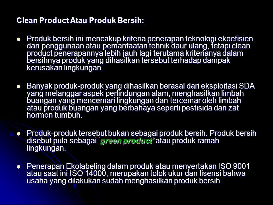 Clean Product Atau Produk Bersih: