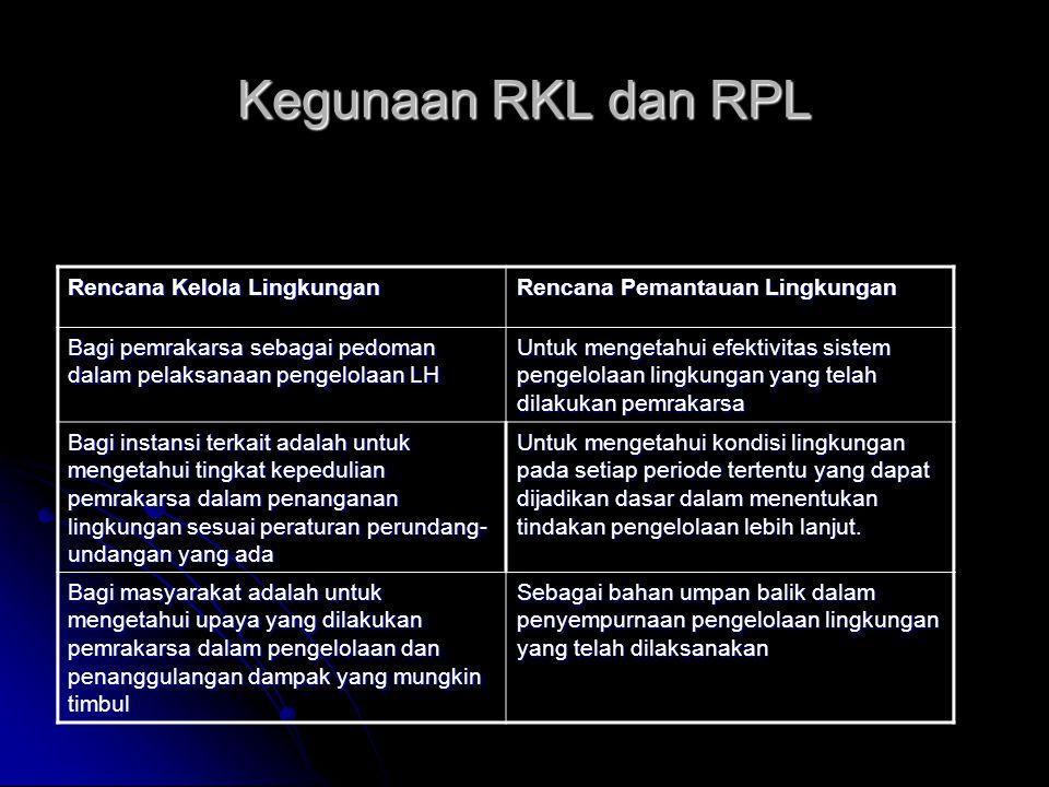 Kegunaan RKL dan RPL Rencana Kelola Lingkungan