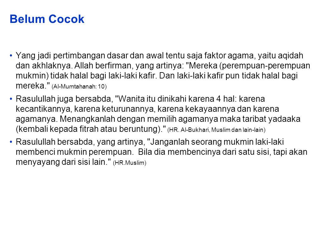 Belum Cocok