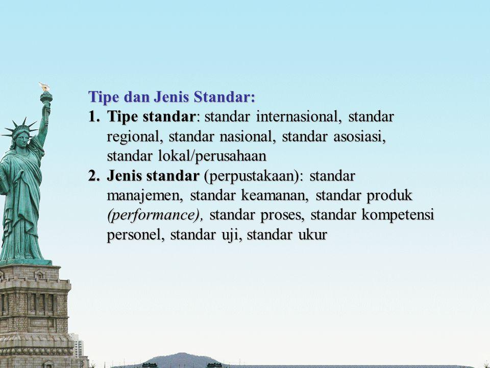 Tipe dan Jenis Standar: