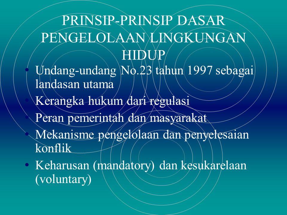PRINSIP-PRINSIP DASAR PENGELOLAAN LINGKUNGAN HIDUP
