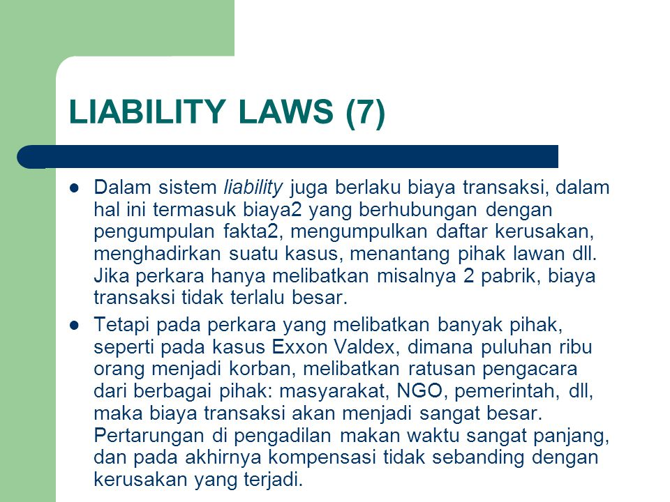 LIABILITY LAWS (7)