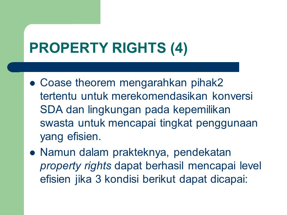 PROPERTY RIGHTS (4)