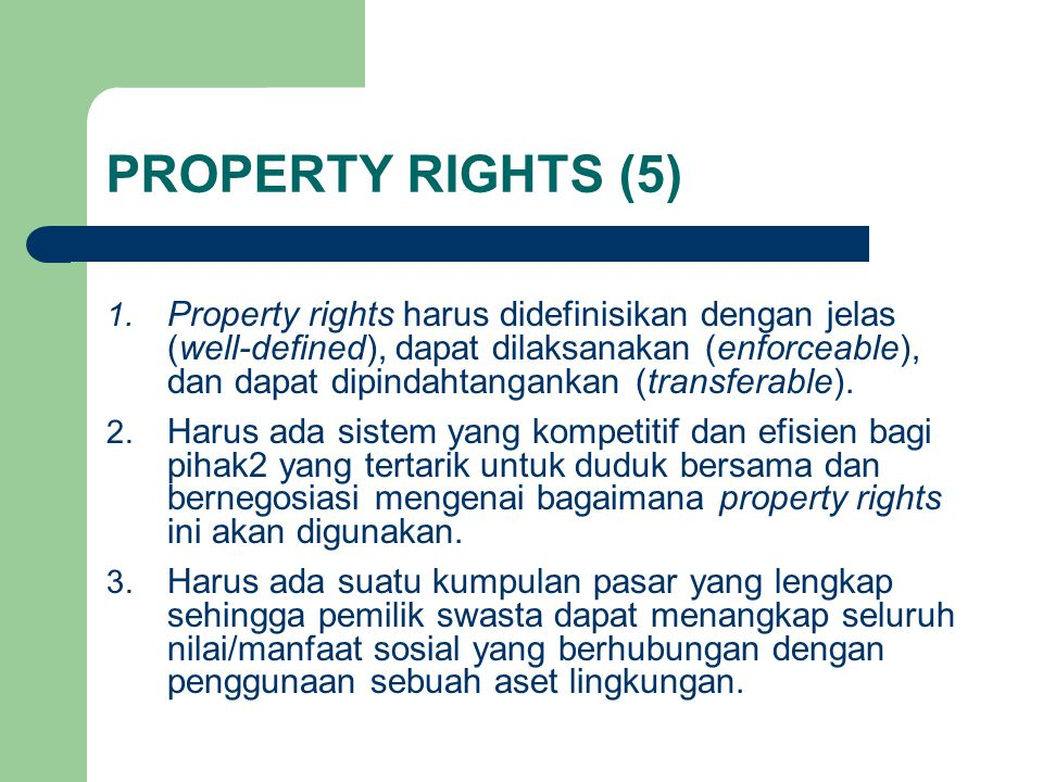PROPERTY RIGHTS (5)