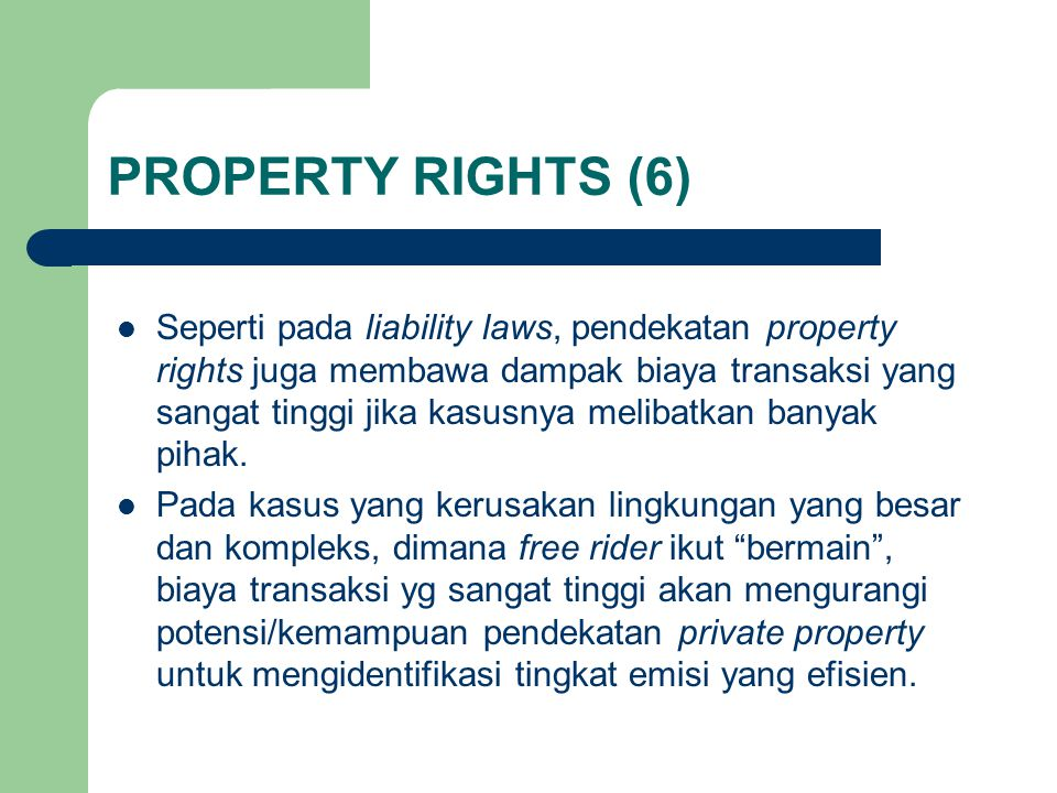 PROPERTY RIGHTS (6)