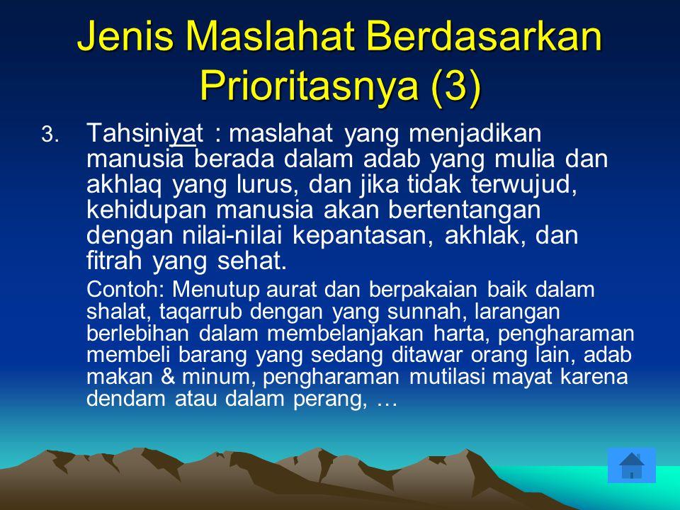 Jenis Maslahat Berdasarkan Prioritasnya (3)
