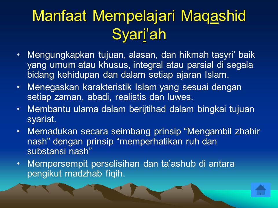 Manfaat Mempelajari Maqashid Syari'ah