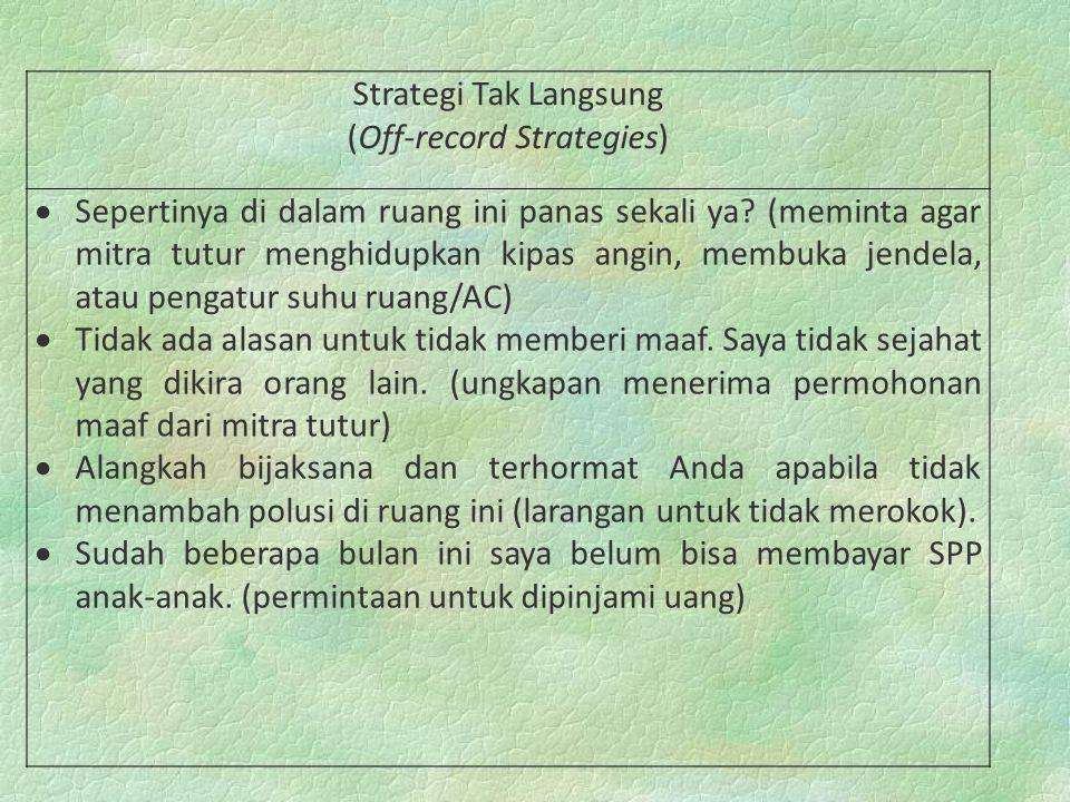 (Off-record Strategies)