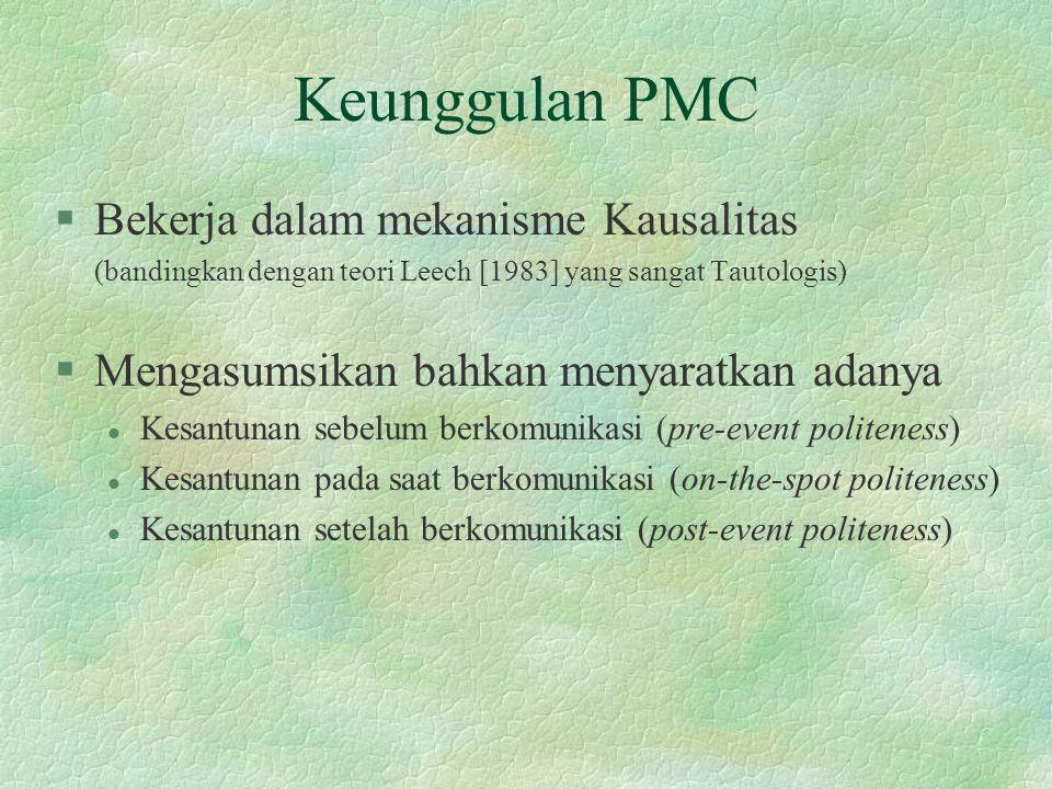 Keunggulan PMC Bekerja dalam mekanisme Kausalitas