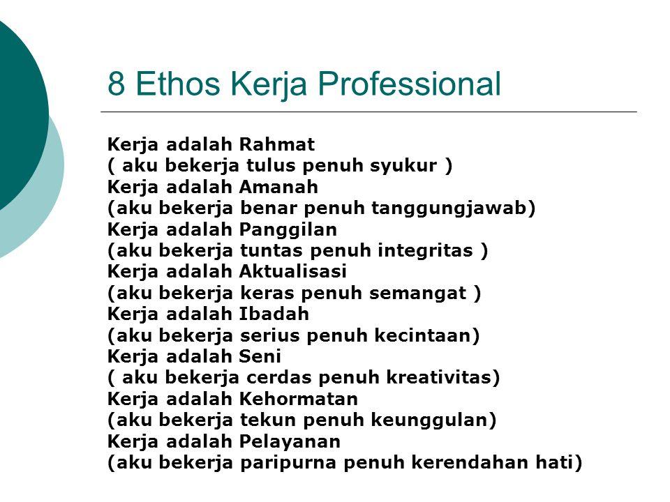 8 Ethos Kerja Professional