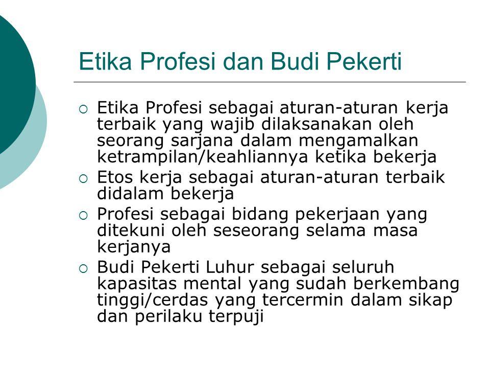 Etika Profesi dan Budi Pekerti