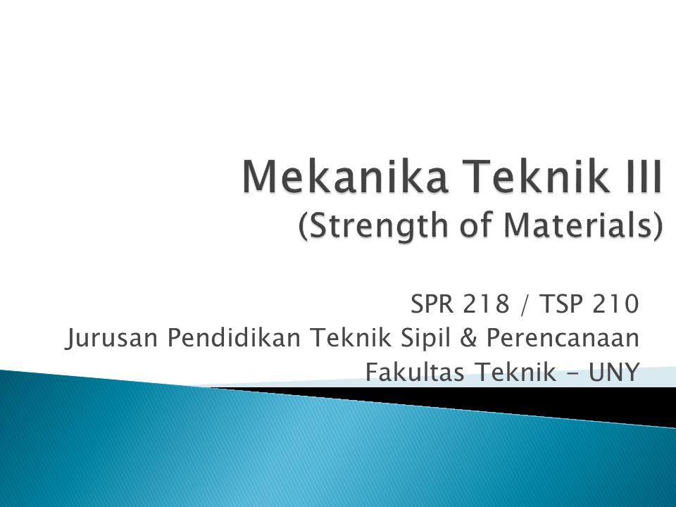 Mekanika Teknik III (Strength of Materials)
