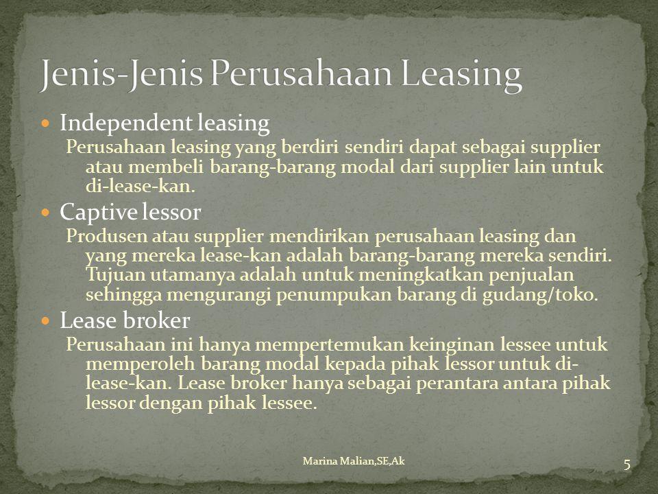 Jenis-Jenis Perusahaan Leasing