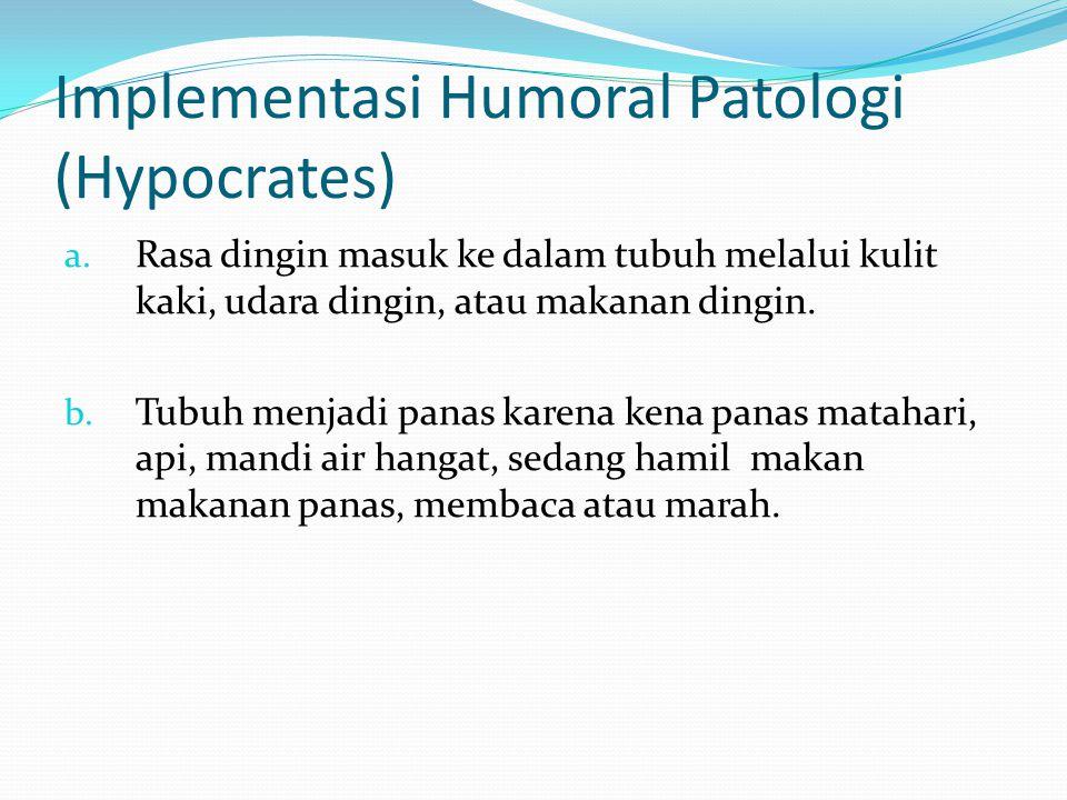 Implementasi Humoral Patologi (Hypocrates)