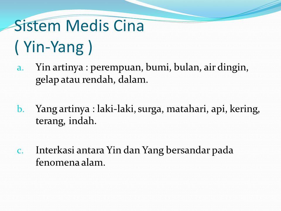 Sistem Medis Cina ( Yin-Yang )