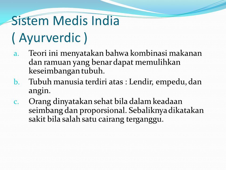 Sistem Medis India ( Ayurverdic )