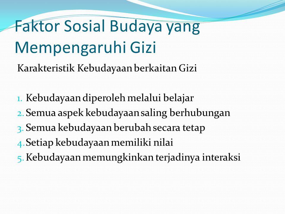 Faktor Sosial Budaya yang Mempengaruhi Gizi