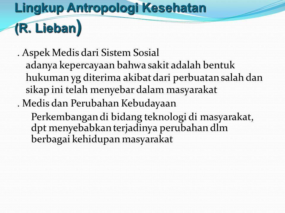 Lingkup Antropologi Kesehatan (R. Lieban)