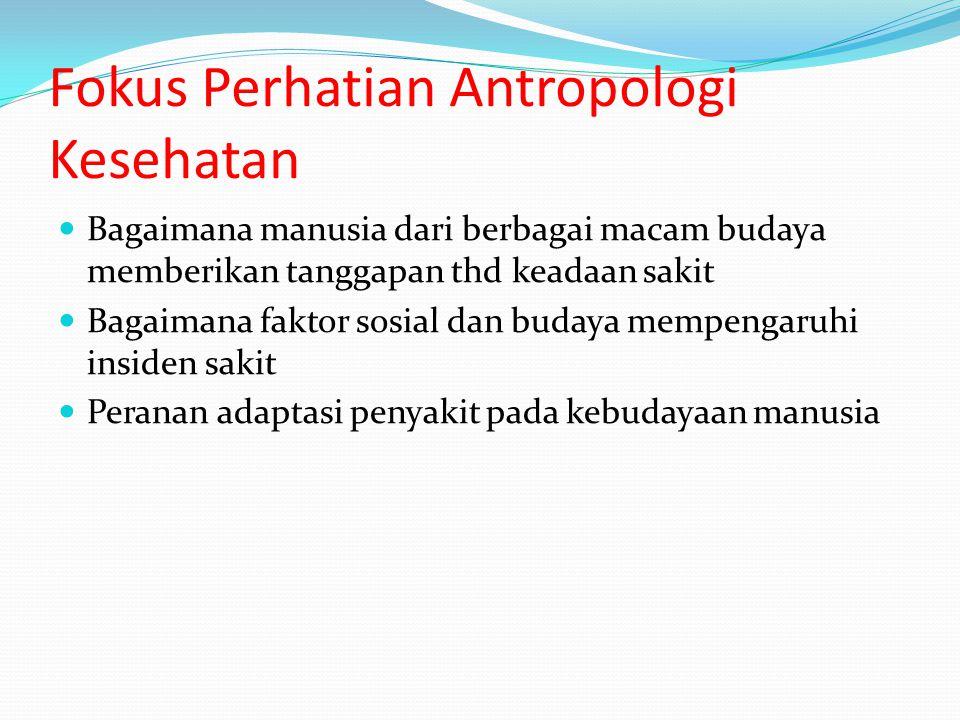 Fokus Perhatian Antropologi Kesehatan
