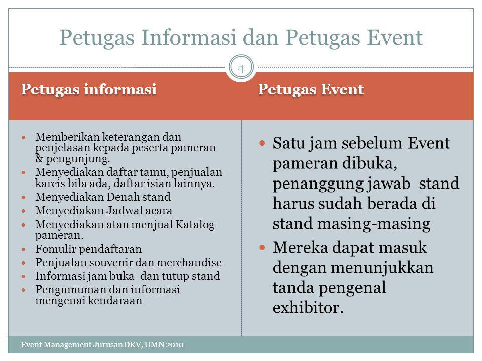 Petugas Informasi dan Petugas Event