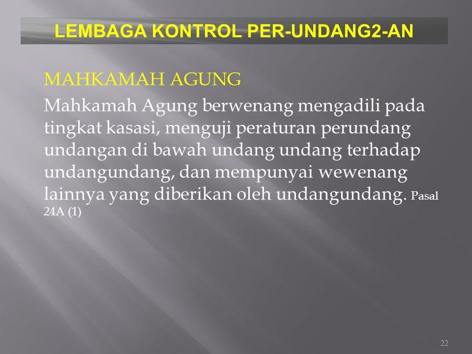 LEMBAGA KONTROL PER-UNDANG2-AN
