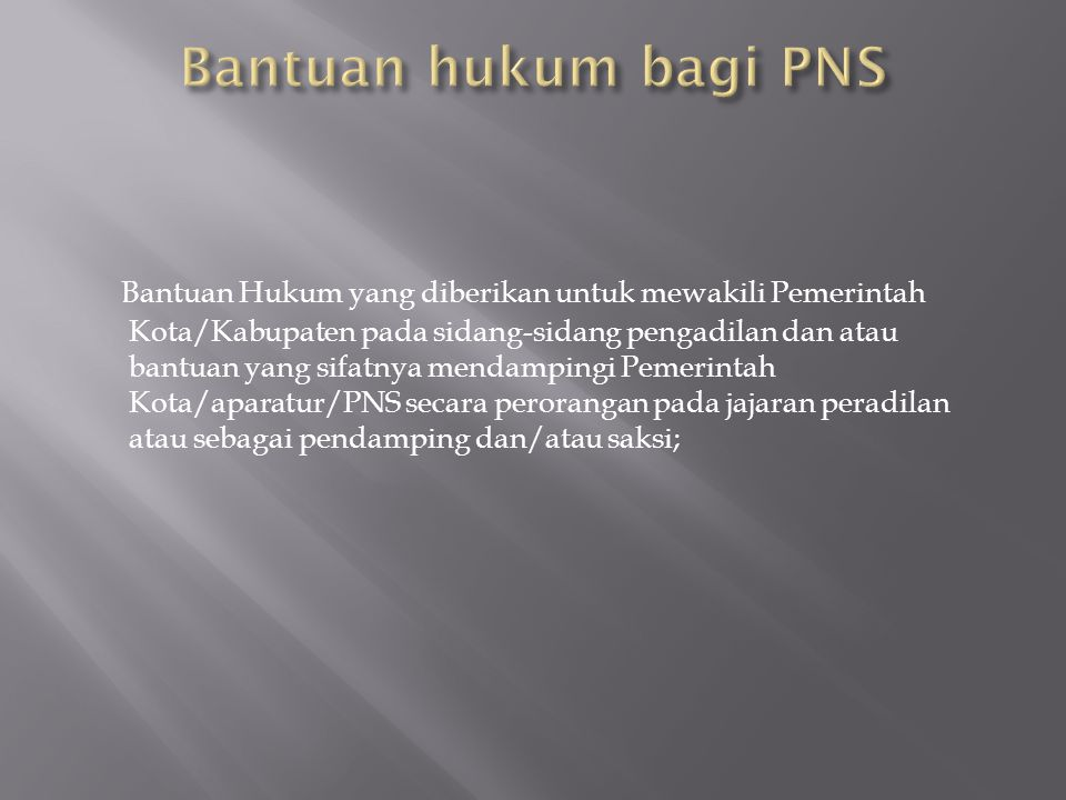Bantuan hukum bagi PNS