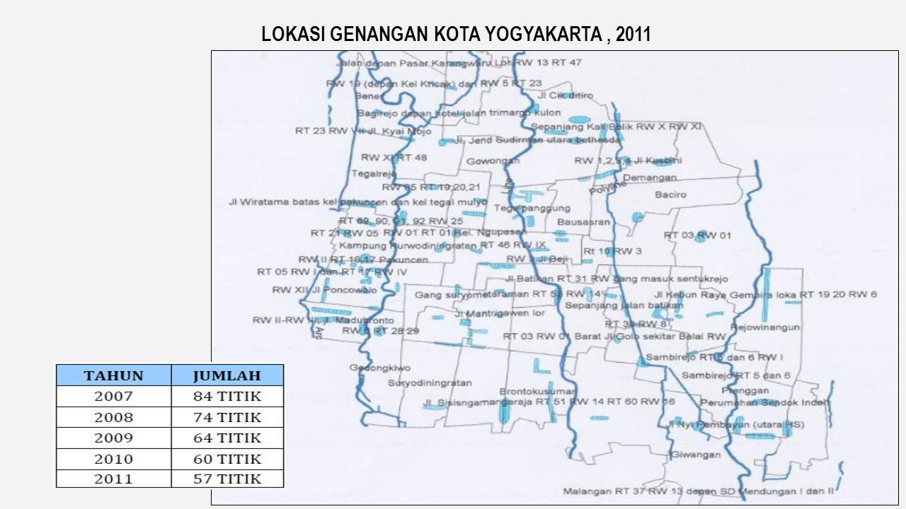 LOKASI GENANGAN KOTA YOGYAKARTA , 2011