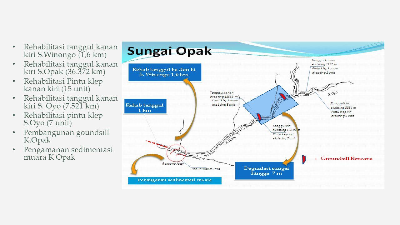 Rehabilitasi tanggul kanan kiri S.Winongo (1,6 km)