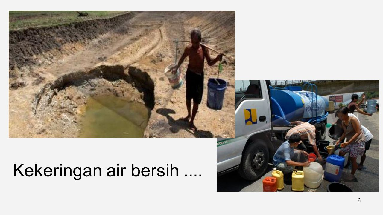 Kekeringan air bersih ....
