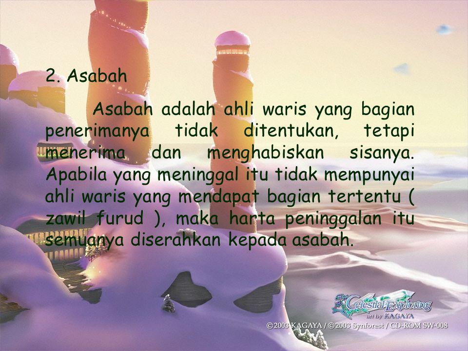 2. Asabah