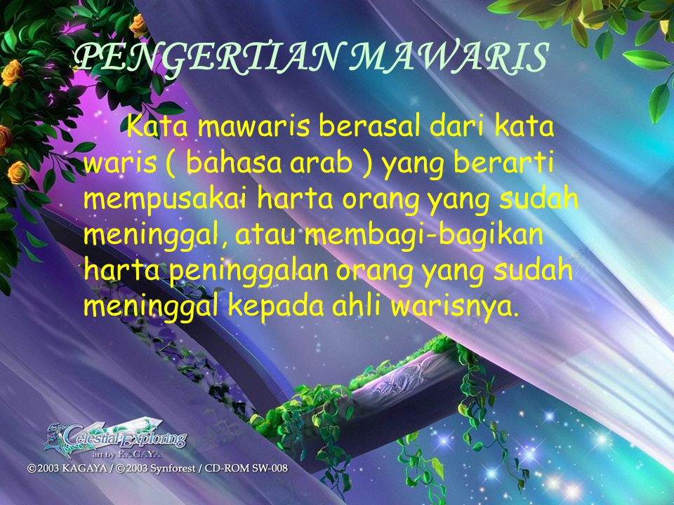 PENGERTIAN MAWARIS