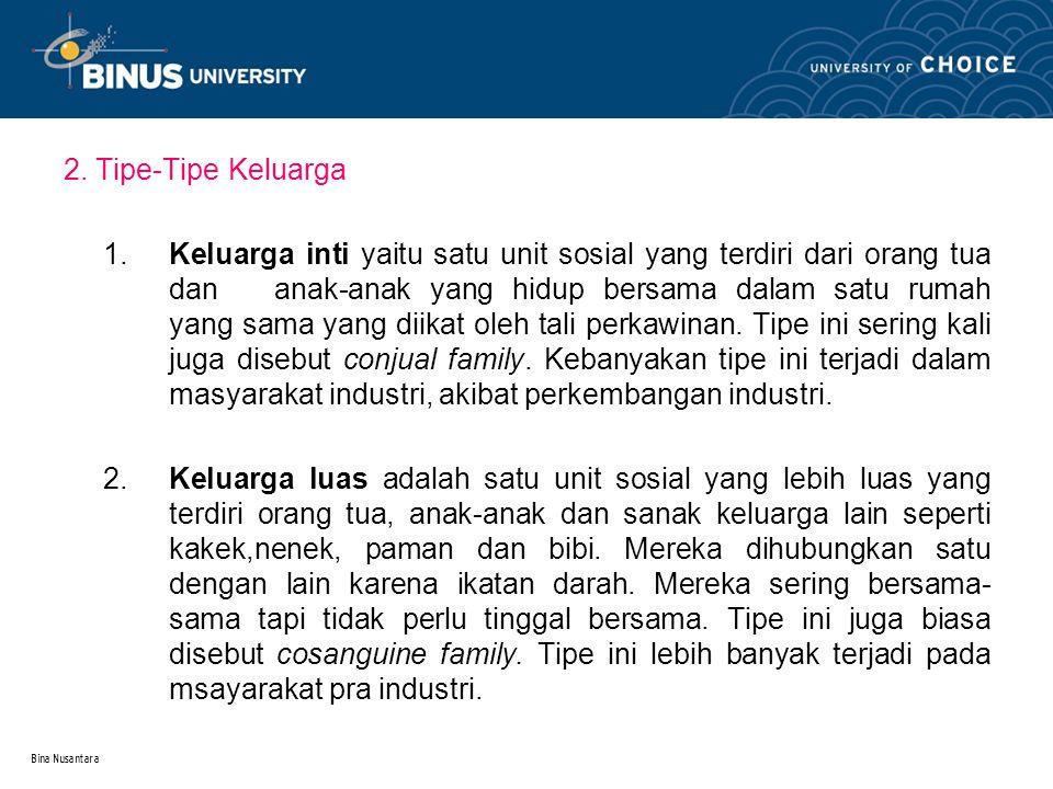 2. Tipe-Tipe Keluarga