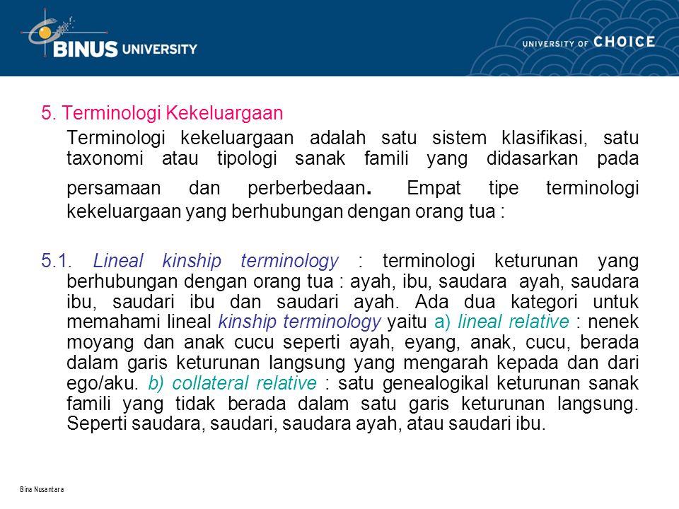 5. Terminologi Kekeluargaan